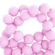 Acryl kralen 8mm matt pink