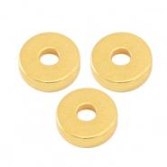 DQ kraal disc 6x2mm goud