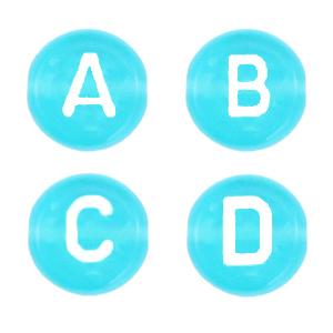 Letterkalen 7mm blauw transparant