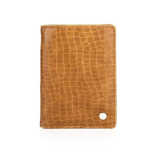 Paspoorthoesje croco bruin