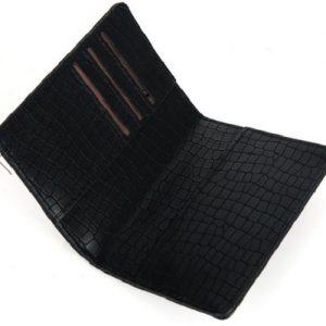 Paspoorthoesje croco zwart binnenkant