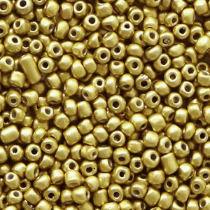 Rocailles 2mm metallic antique gold