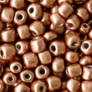 Rocailles 4mm copper brown metallic