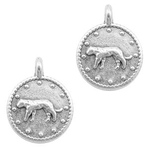 DQ bedel luipaard rond zilver