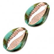Resin kauri schelp ocean green