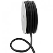 Elastisch Ibiza lint 5mm zwart
