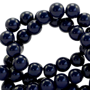 Glaskralen 6mm opaque dark blue
