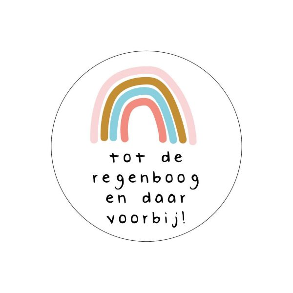 Sticker regenboog