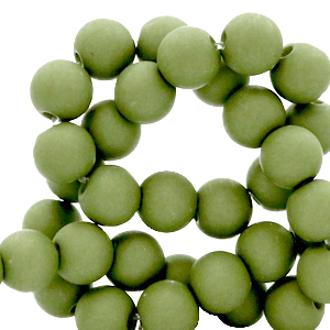 Acryl kralen 6mm green olive