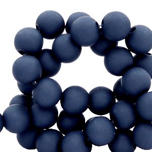 Acryl kralen 6mm peacoat blue