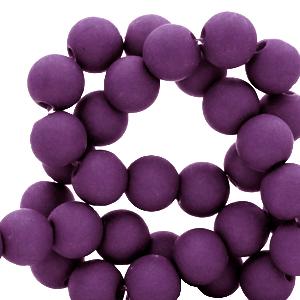 Acryl kralen 6mm tillandsia purple