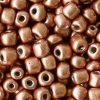Rocailles 4mm copper brown metallic