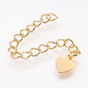 Verlengketting hart goud