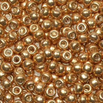 Miyuki rocailles galvanized gold 1052