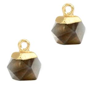 Natuursteen hanger hexagon black diamond