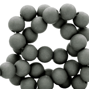 Acryl kralen 8mm dark sleet grey