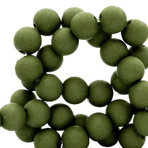 Acryl kralen 8mm dusty olive