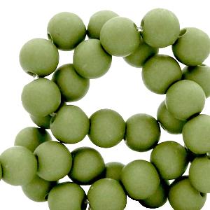 Acryl kralen 8mm green olive