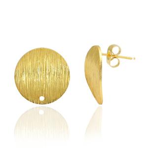 Brass oorbellen met oog goud