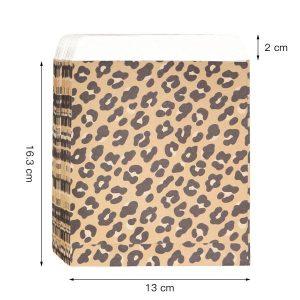 Cadeauzakje luipaard achterkant