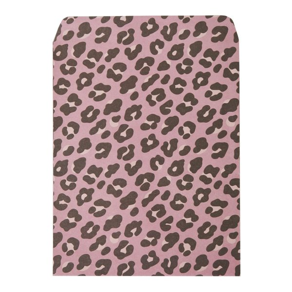 Cadeauzakje luipaard roze