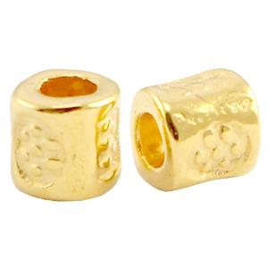 DQ kraal tube 3x3mm goud