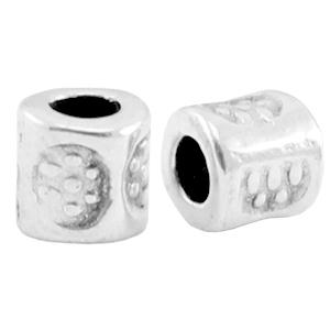 DQ kraal tube 3x3mm zilver