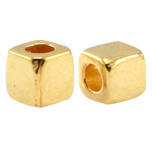 DQ kraal vierkant 3.8mm goud