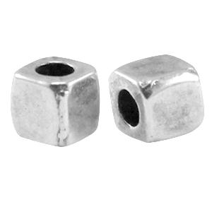 DQ kraal vierkant 3.8mm zilver