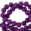 Glaskralen 4mm acai purple