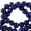 Glaskralen 4mm dark sodalite blue