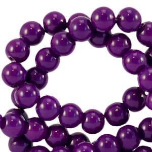 Glaskralen 6mm acai purple