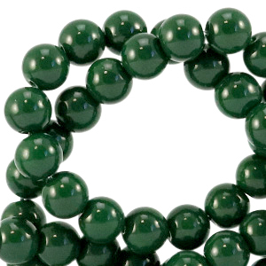 Glaskralen 6mm dark eden green