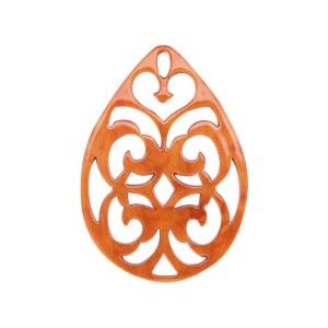 Resin hanger druppel barok flame orange