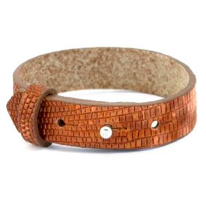Cuoio armband 15mm samba orange