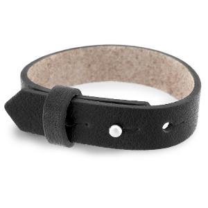 Cuoio armband 15mm jet black