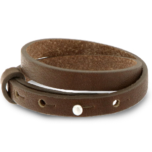 Cuoio armband 8mm alcazar brown dubbel