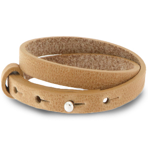 Cuoio armband 8mm light cognac brown