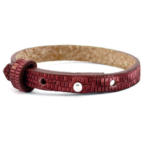 Cuoio armband croco 8mm magenta purple