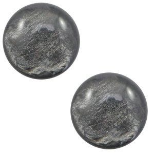 Cabochon 7mm lively dark grey