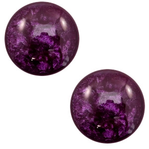 Cabochon 7mm lively dark purple