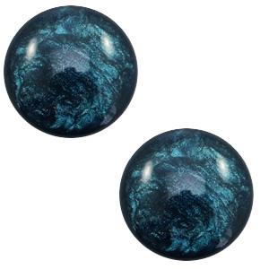 Cabochon 7mm lively petrol blue