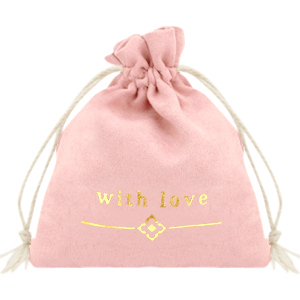 Cadeauzakje with love vintage roze goud