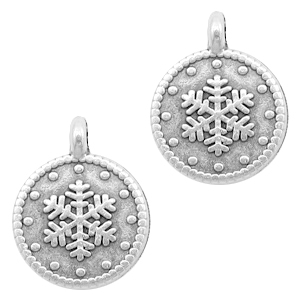 DQ bedel snowflake rond zilver