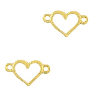 DQ tussenstuk hart goud