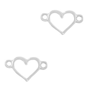 DQ tussenstuk hart zilver