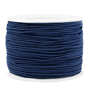 Elastiek 1.2mm dark blue