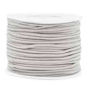 Elastiek 2mm light grey