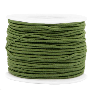 Elastiek 2mm olive green