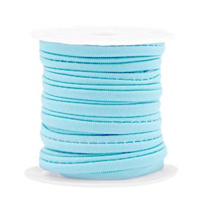 Elastisch Ibiza lint 4mm light blue
